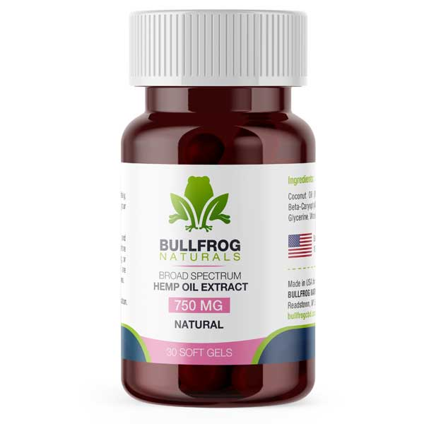 Buy Bullfrog's Soft Gels online -  Hemp Oil Soft Gel Capsules are a pure, potent formulation designed to enhance your overall well-being. With hemp-derived  extracts encapsulated and formulated for Maximum Bioavailability. Made using ORGANICALLY US Grown Hemp