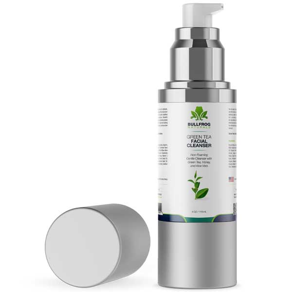 Facial Cleanser With Green Tea and 350mg of Hemp Oil Extract  4oz Pump Bottle