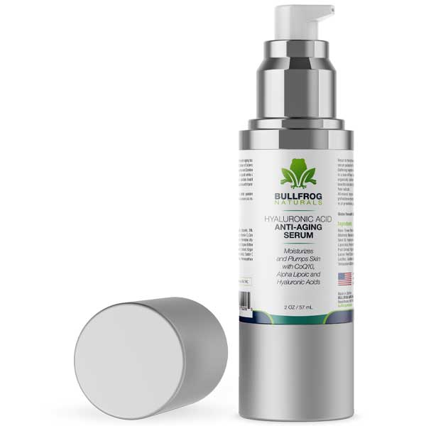 Anti-Aging Serum - Hyaluronic Acid with 300MG Hemp Oil Extract   2oz Pump Bottle